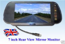 7 inch LCD Rear View Monitor Screen for parking camera